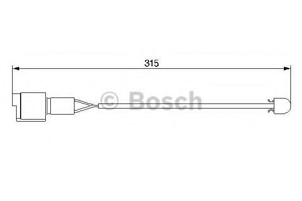 Сигнализатор, износ тормозных колодок BOSCH арт. 1987474951