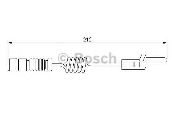 Сигнализатор, износ тормозных колодок BOSCH арт. 1987474969