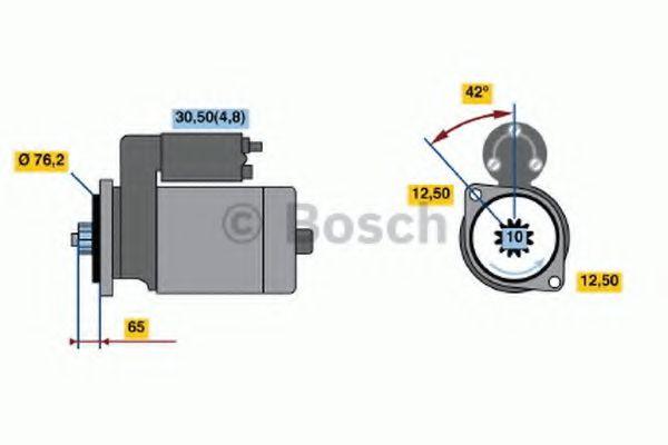 Стартер BOSCH арт. 0001121402