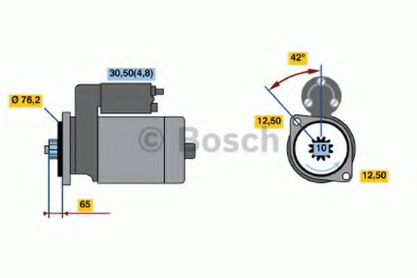 Стартер BOSCH арт. 0001125605