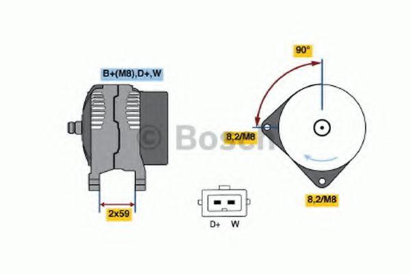 Генератор Bosch 0123320027