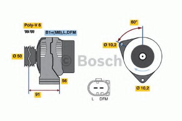 Генератор Bosch 0124615044