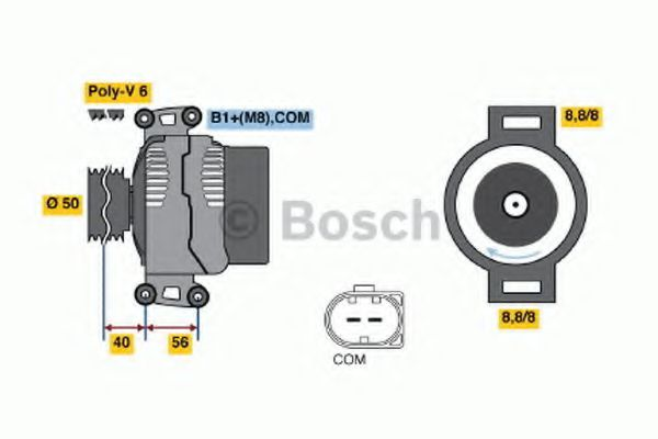 Генератор Bosch 0124625023
