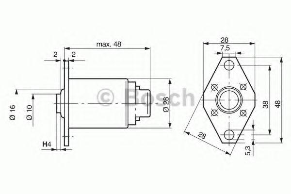 Подъёмный магнит BOSCH арт. 0330001004