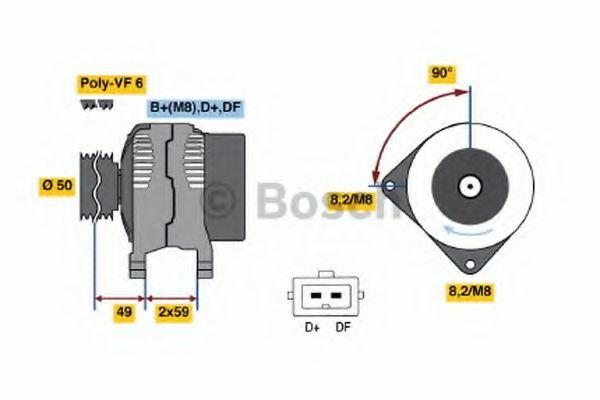 Генератор Bosch 0123515020