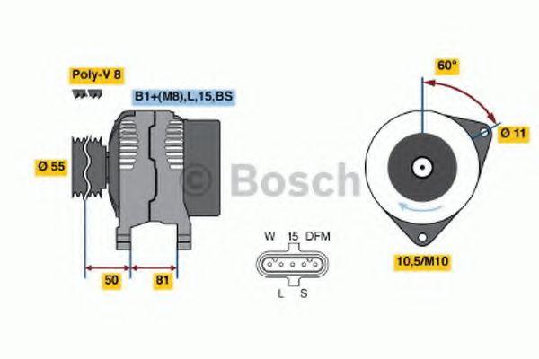 Генератор Bosch 0124655005