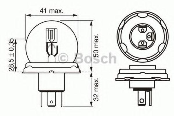 Лампа накаливания BOSCH арт. 1987302421