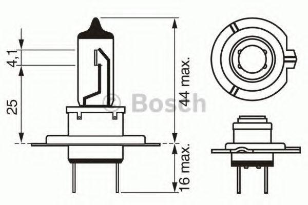 Лампа накаливания, фара дальнего света BOSCH арт. 1987302071