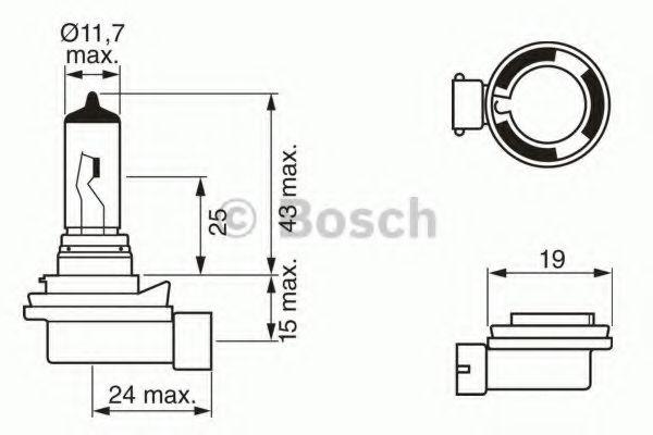 Автолампа галогенова 35W Bosch 1987302081