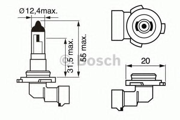 Автолампа галогенова 42W Bosch 1987302083