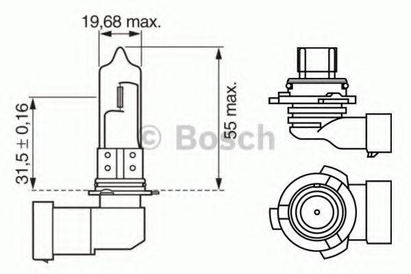 Автолампа галогенова 51W Bosch 1987302153