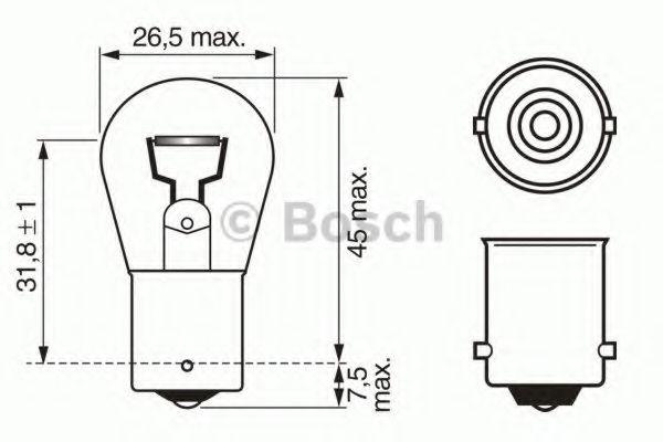 Лампа накаливания, фонарь указателя поворота BOSCH арт.