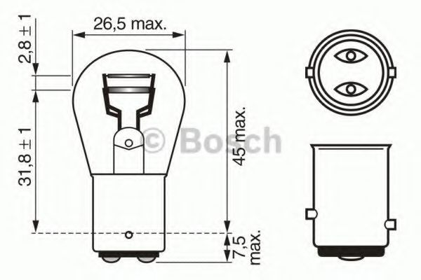 Автолампа 21/5W Bosch 1987302202