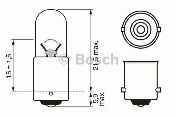 Лампа накаливания, фонарь указателя поворота BOSCH арт. 1987302207