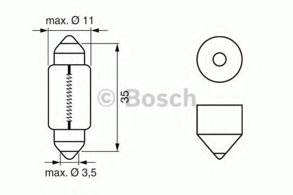 Автолампа 10W Bosch 1987302228