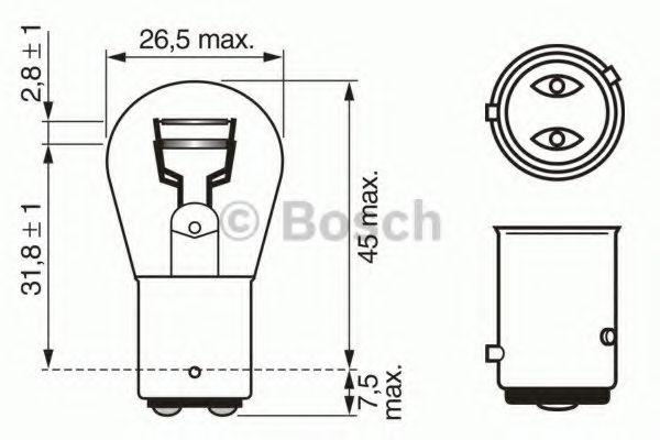 Автолампа 21/4W Bosch 1987302215