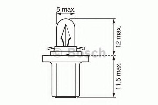Лампа накаливания BOSCH арт. 1987302219