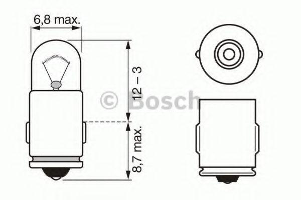 Автолампа 2W Bosch 1987302224