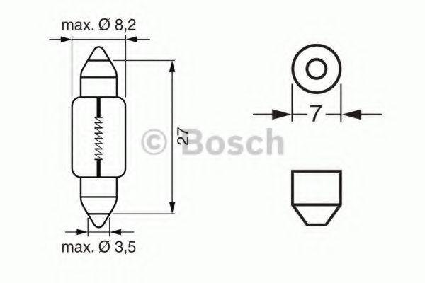 Автолампа 3W Bosch 1987302226