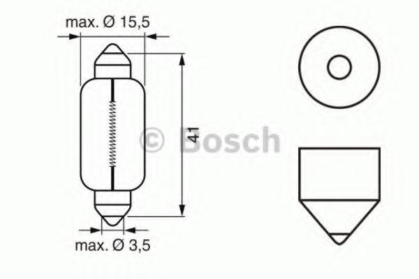 Автолампа 21W Bosch 1987302230