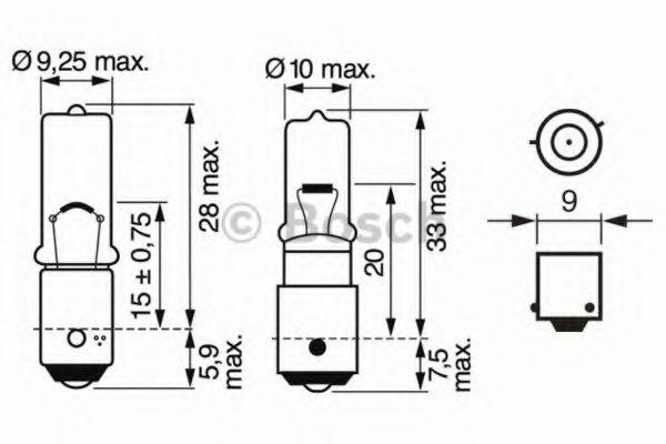 Автолампа 6W Bosch 1987302232