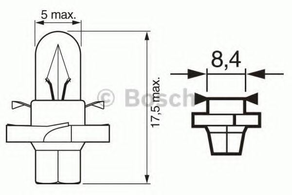 Автолампа 1.12W Bosch 1987302243