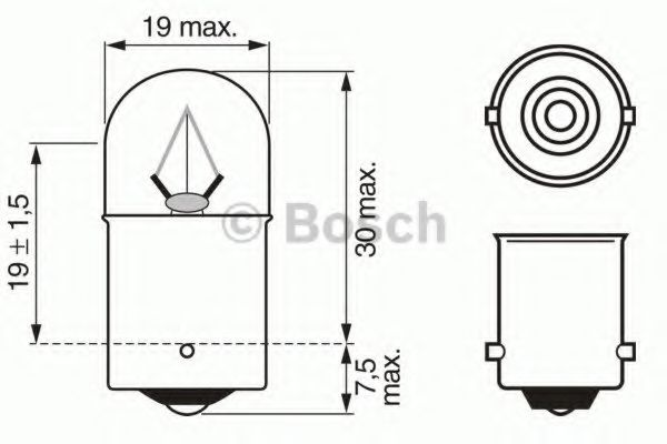Лампа накаливания BOSCH арт. 1987302505