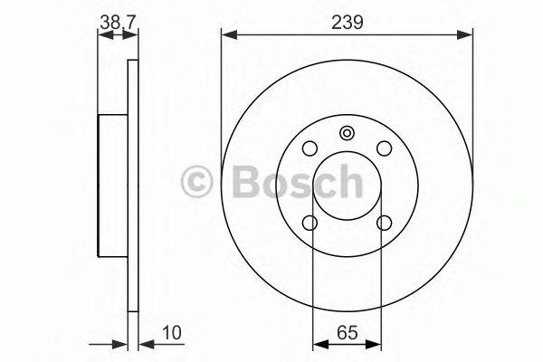 Тормозной диск BOSCH арт. 0986479824