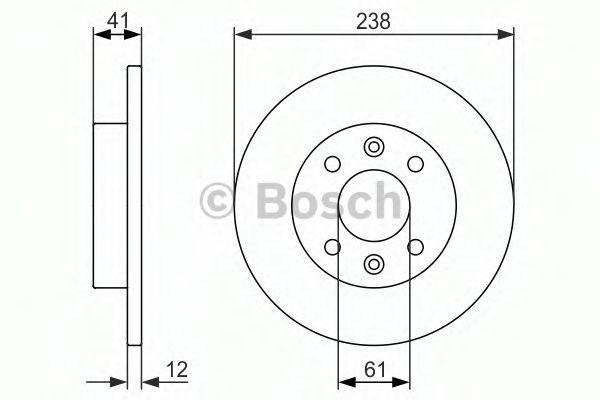 Тормозной диск BOSCH арт. 0986479831