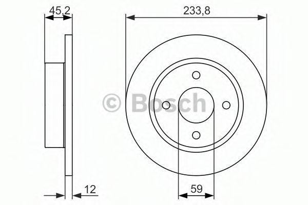 Диск гальмівний Bosch 0986479852