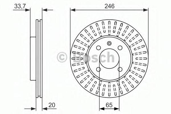 Тормозной диск BOSCH арт. 0986479853