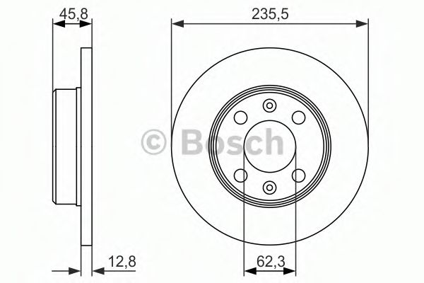 Диск гальмівний Bosch 0986479913