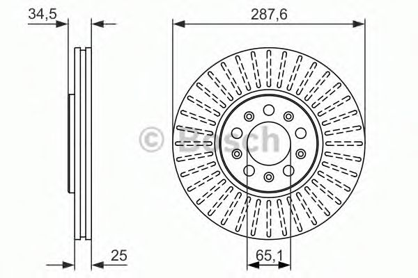 Тормозной диск BOSCH арт. 0986479914