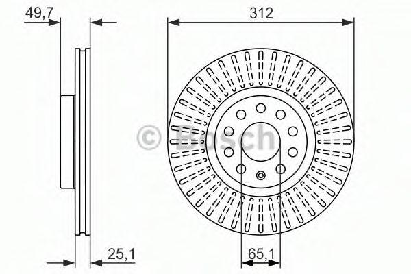 Тормозной диск BOSCH арт. 0986479932