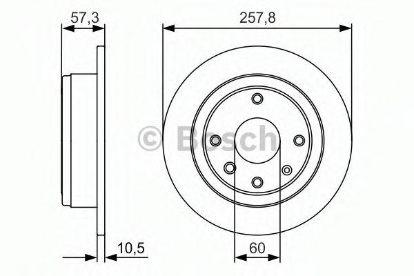 Тормозной диск BOSCH арт. 0986479985