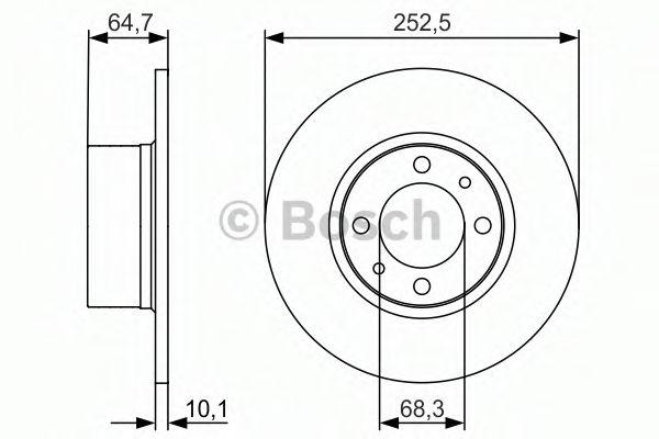 Тормозной диск BOSCH арт. 0986479988