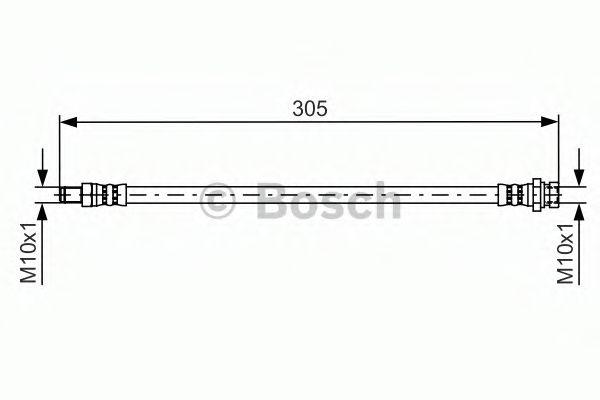 Тормозной шланг BOSCH арт. 1987481442