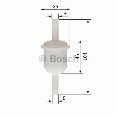 Фильтры топливные Топливный фильтр BOSCH арт. 0450904060