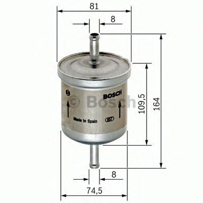 Фильтры топливные Топливный фильтр BOSCH арт. 0450905264