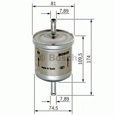 Фильтры топливные Топливный фильтр BOSCH арт. 0450905318