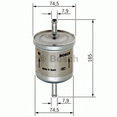 Фильтры топливные Топливный фильтр BOSCH арт. 0450905927