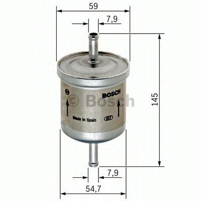 Фильтры топливные Топливный фильтр BOSCH арт. 0450905976