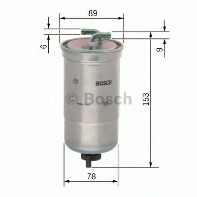 Фільтр паливний Bosch 0450906172