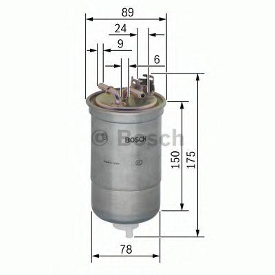 Фільтр паливний Bosch 0450906267