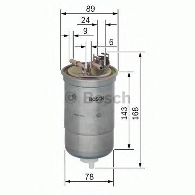 Фильтры топливные Топливный фильтр BOSCH арт. 0450906274