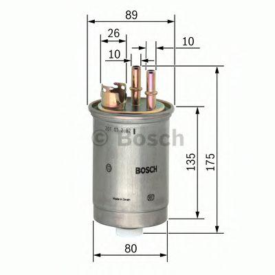 Фильтры топливные Топливный фильтр BOSCH арт. 0450906357