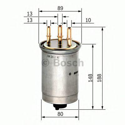 Фільтр паливний Bosch 0450906508