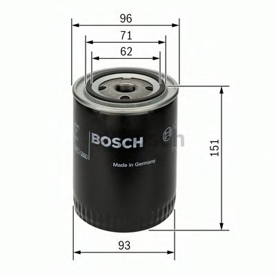 Фильтры масляные Масляный фильтр BOSCH арт. 0451203012