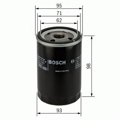 Фильтры масляные Масляный фильтр BOSCH арт. 0986452024