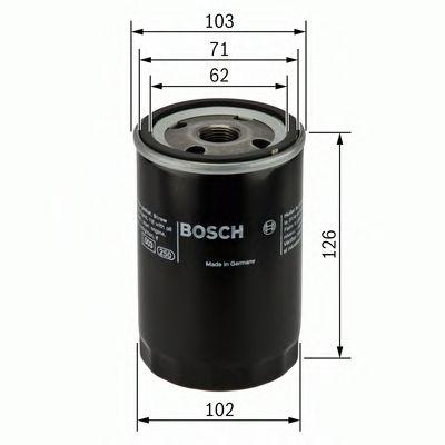 Фильтры масляные Масляный фильтр BOSCH арт. 0986452042